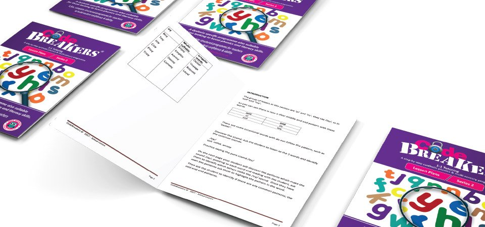 CodeBreakers dyslexia workbooks