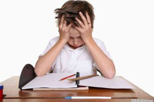 spelling test stress