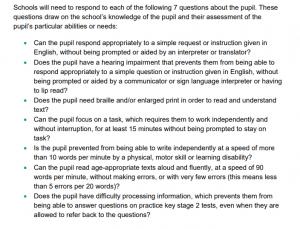 SATS extra time criteria